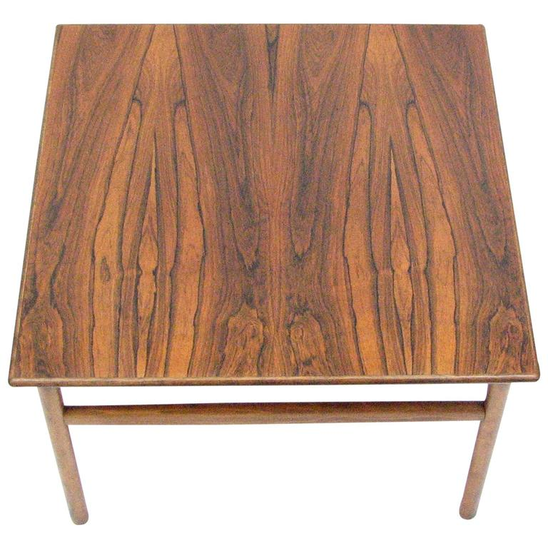 Mid-Century Rosewood Cocktail or Side Table 1
