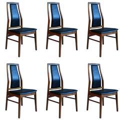 Set of Six Danish Teak Dining Chairs