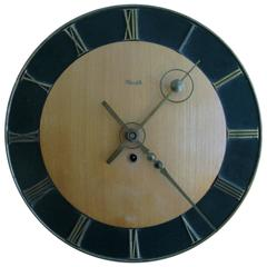 1950s Wood German Wall Clock by Kienzle