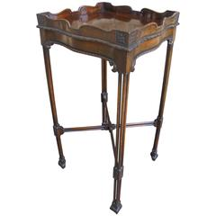 Antique Mahogany Chippendale Style Kettle Stand