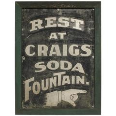 Late 19th Century Tin Directional Sign