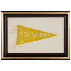 Triangular Felt Suffragette Pennant with an Interesting Design