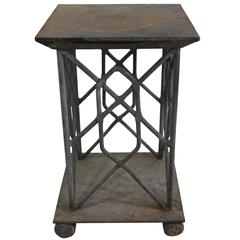 Sculptural Hand-Wrought Iron Side Table