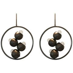 Pair of 1960s Italian Space Age Molecule Pendants