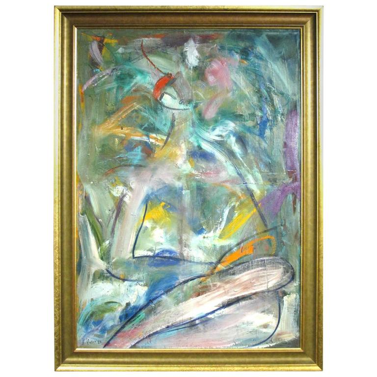 Abstract / Expressionist Portrait of a Reclining Woman by Alexander Putov