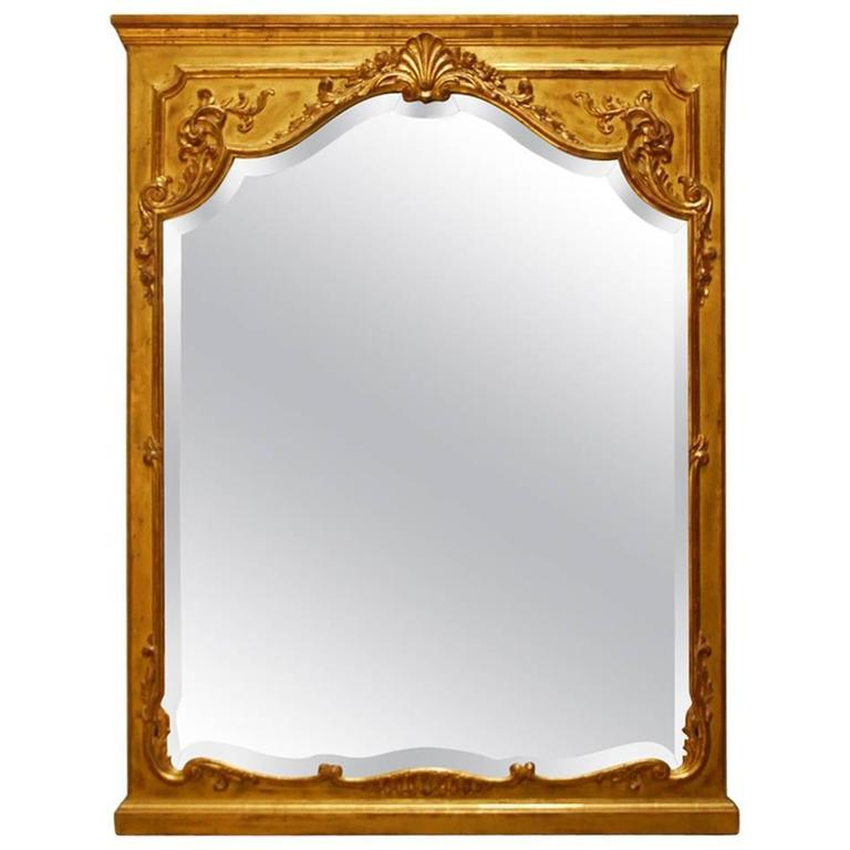 french louis xv carved giltwood trumeau mirror for sale at 1stdibs. Black Bedroom Furniture Sets. Home Design Ideas