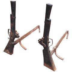 Great Folky Blunderbuss Guns Andirons