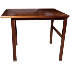 Single Mahogany End Table by Dunbar, American, 1950s