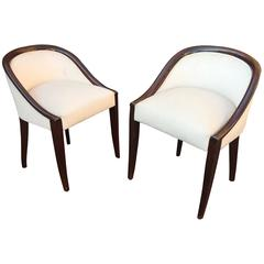 Pair of Lounge Chairs Attribued to Dominique, circa 1926