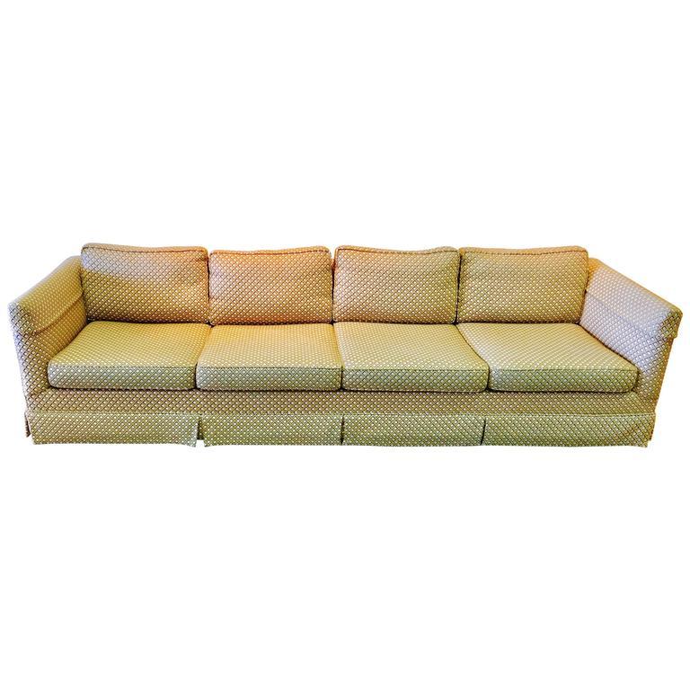 Four Cushion Sofa American Leather Living Room Left Arm