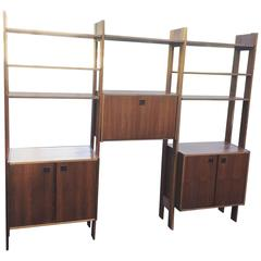 Poul Cadovious Style Danish Teak Wall Unit