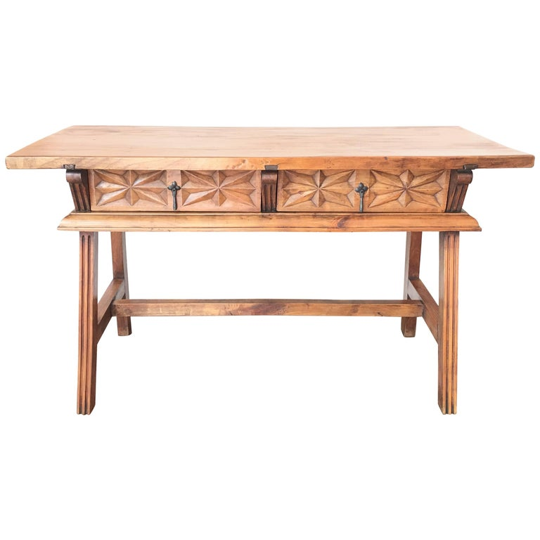19th spanish refectory console table at 1stdibs for Table th width