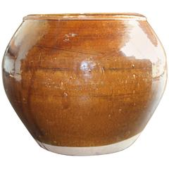 Vintage Chinese Ochre Pot
