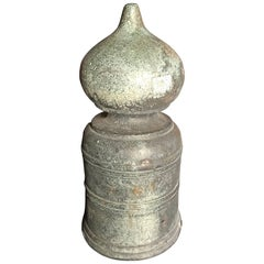 Japan Antique Hand Cast Bronze Buddhist Ornament Giboshi Perfect Garden Piece