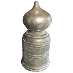 "Japanese Antique Hand Cast Bronze Buddhist 9"" Ornament Giboshi"