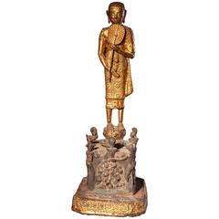 Second Half of the 19th Century Bronze Phra Malai Visiting Hell