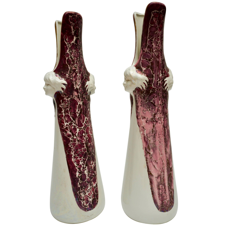 Pair of Ceramic Vases Made in Belgium
