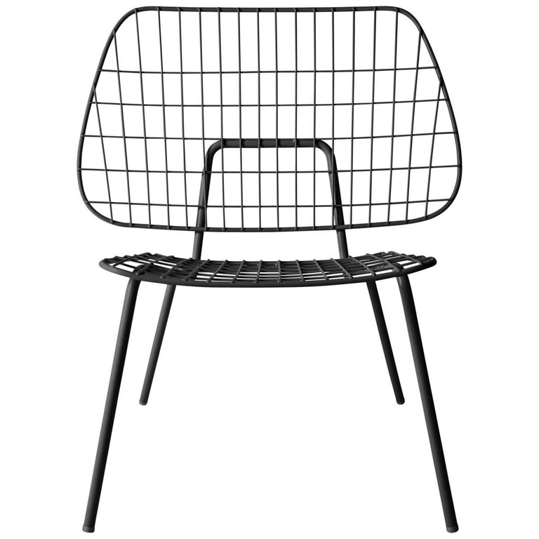 Pair of Studio WM String wire chairs, new