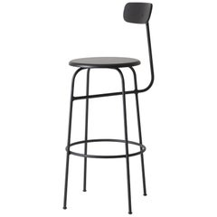 Bar Stool by Afteroom, Black Steel Frame with Painted Wood Seat