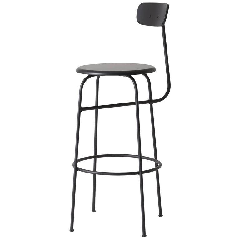 Afteroom steel and wood bar stool, new, offered by Menu
