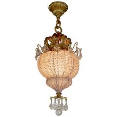 Beaded Basket Chandelier by E.F.Caldwell