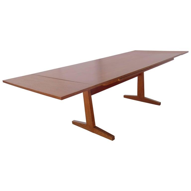 Danish Modern Teak Extension Dining Table, 1960s