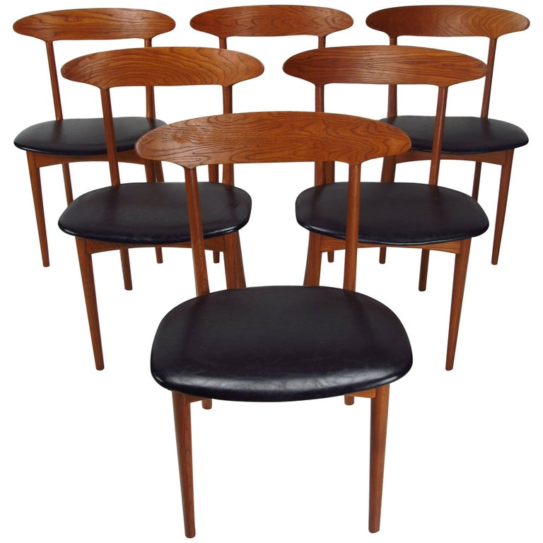 Danish Teak Mid-Century Modern Dining Chairs by Kurt Ostervig, 1950s