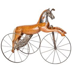 Antique French Velocipede Horse Tricycle by Jean Louis Gourdoux for Jugnet