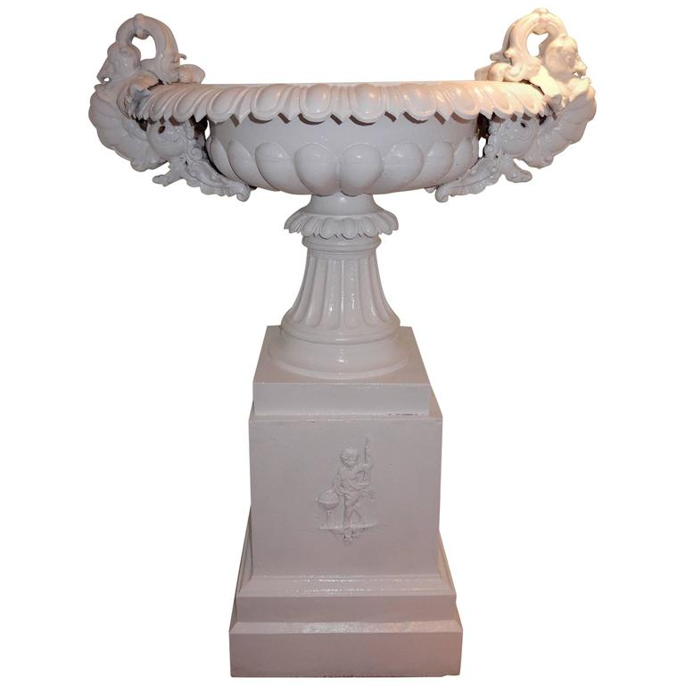 Garden Urn Tall Victorian Cast Iron For Sale At 1stdibs