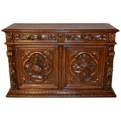 19th Century Carved French Buffet