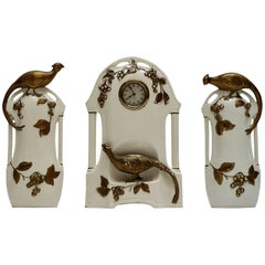 Porcelain Clock Set