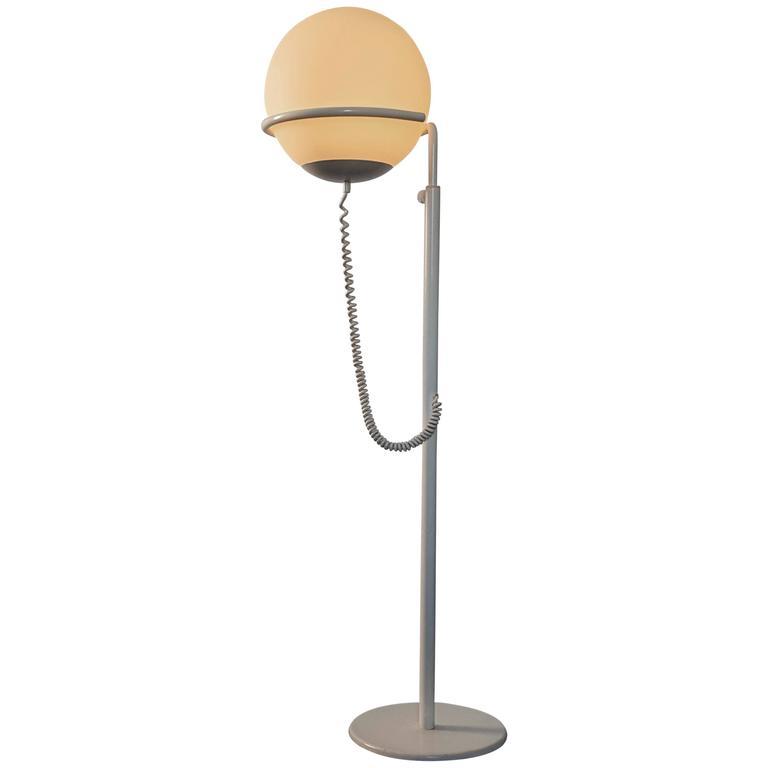 Vintage quotglobequot floor lamp manufactured by hala zeist for Retro globe floor lamp