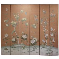 18th Century Style Chinoiserie Six-Fold Screen