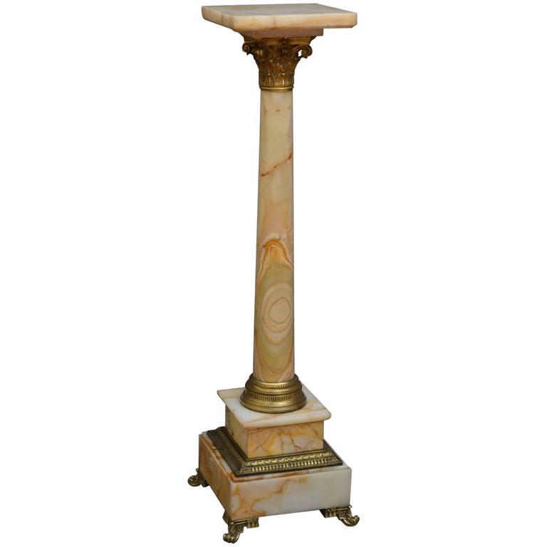 Victorian Onyx Column At 1stdibs