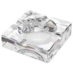 Glass Ashtray by Orrefors, Sweden