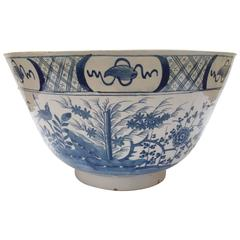Large Delftware Punch Bowl