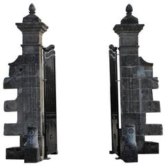 Antique Gate and Gate Posts
