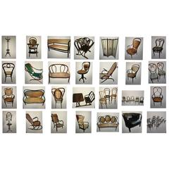 Thonet Museum Collection 46 Items All Stamped and or Labeled 1858-1904