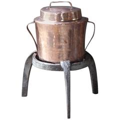 18th Century Trivet with Matching Water Cooker