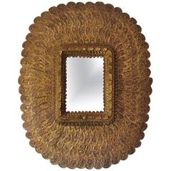 Mid-20th Century Spanish Carved and Gilded Mirror