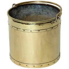 English Brass Bucket