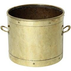 English Brass Kindling Bin