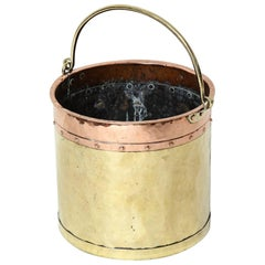 English Brass and Copper Apple Kettle
