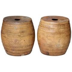 Pair of Lambeth Pottery Barrels