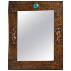 Arts & Crafts Copper Mirror