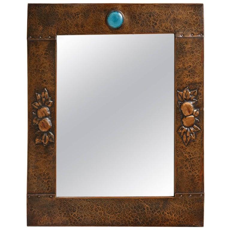 Arts & Crafts Copper Mirror 1