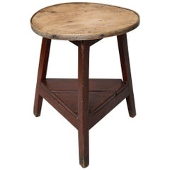 Diminutive Scrubbed Elm Cricket Table