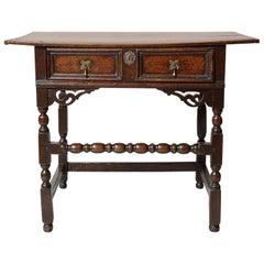 17th Century Oak and Walnut Table