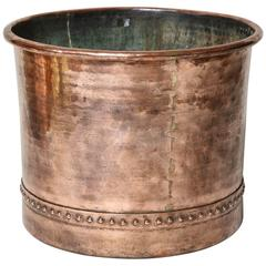 Very Fine English Copper Log Bin