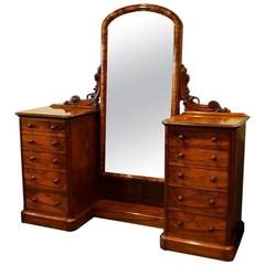 Magnificent Victorian Walnut Cheval Dressing Table